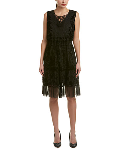 Elie Tahari Silk-Blend A-Line Dress