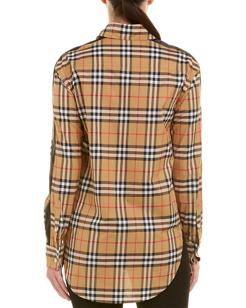 3194a8f3c2224f Burberry-Satin-Stripe-Vintage-Check-Shirt thumbnail 5