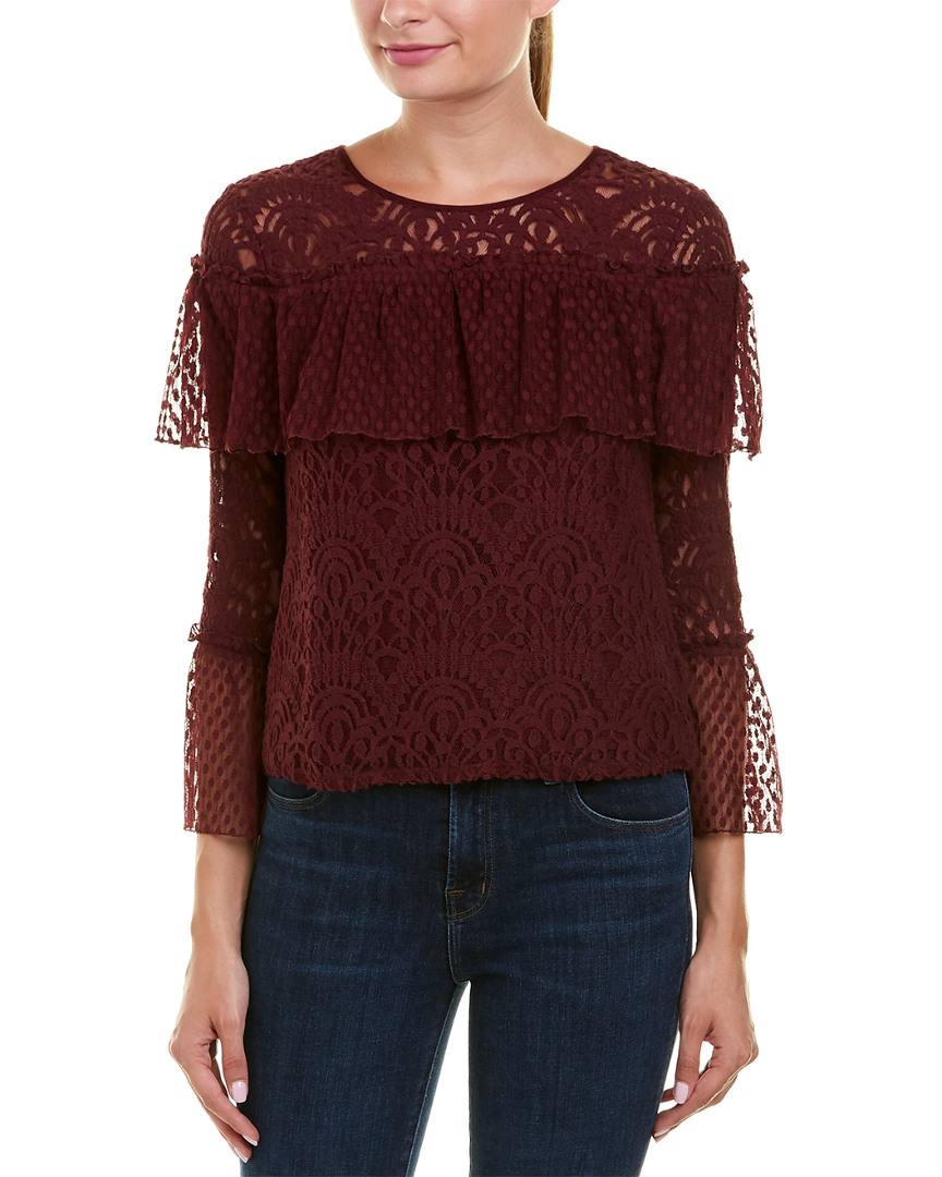 MIXED LACE BLOUSE