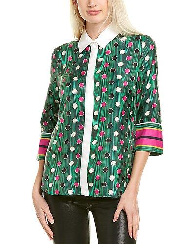 Rue La La — Mary Katrantzou Rita Silk Shirt
