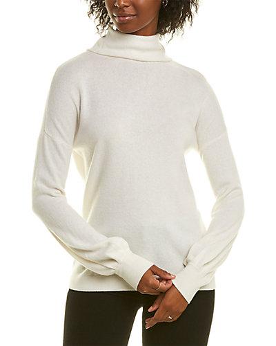 Rue La La — Forte Cashmere Mock Button Back Cashmere Sweater