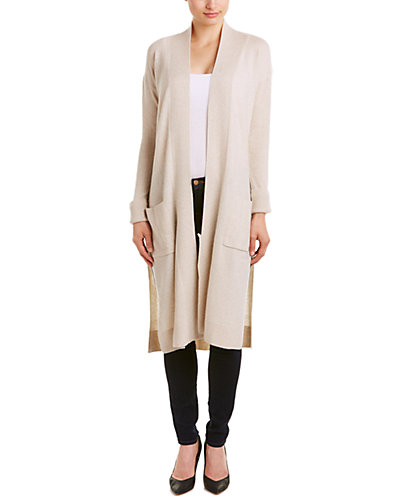 Lockhart Cashmere Rib Knit Cashmere Long Duster