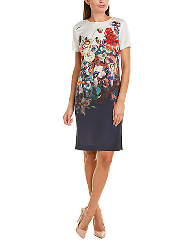 Rue La La — St. John Silk-Blend Shift Dress