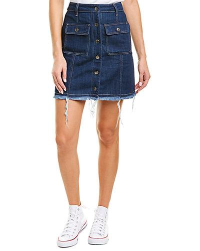 Rue La La — Hidden Jeans Cut Off Mini Skirt