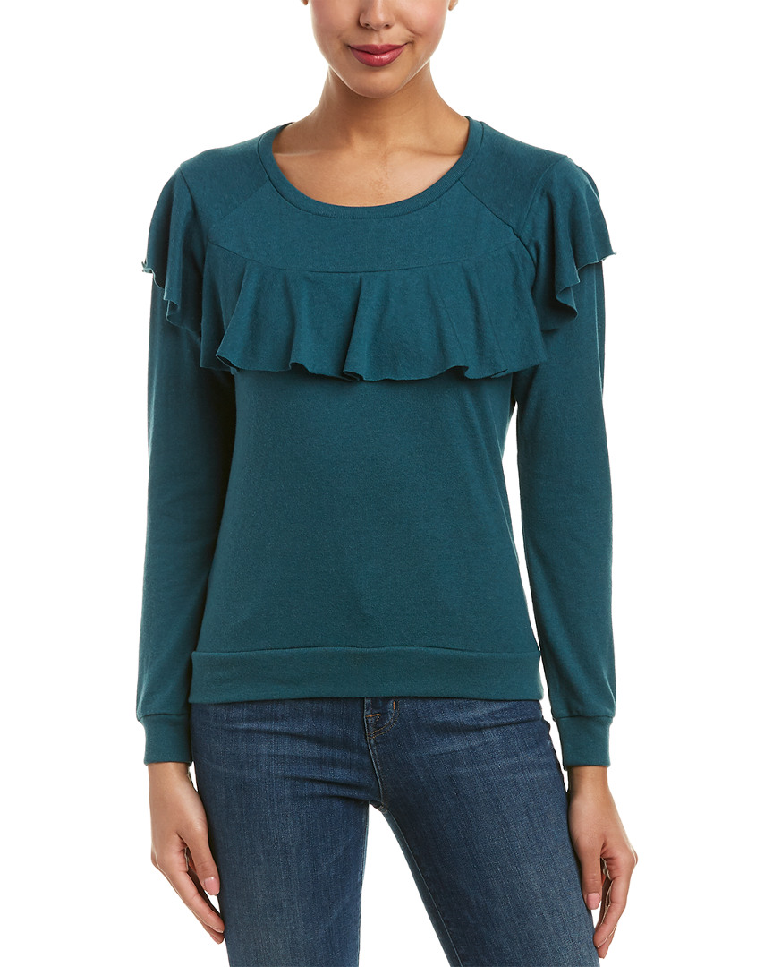 Nation Ltd VALENTIA RUFFLE SWEATSHIRT