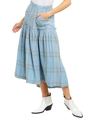 Rue La La — Free People Plaid Fever Midi Skirt