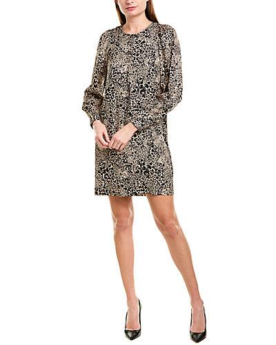 Rue La La — Rebecca Taylor Printed Silk Shift Dress