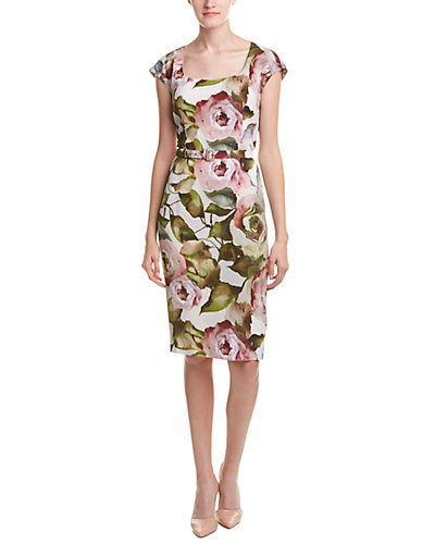 ESCADA Silk-Blend Sheath Dress