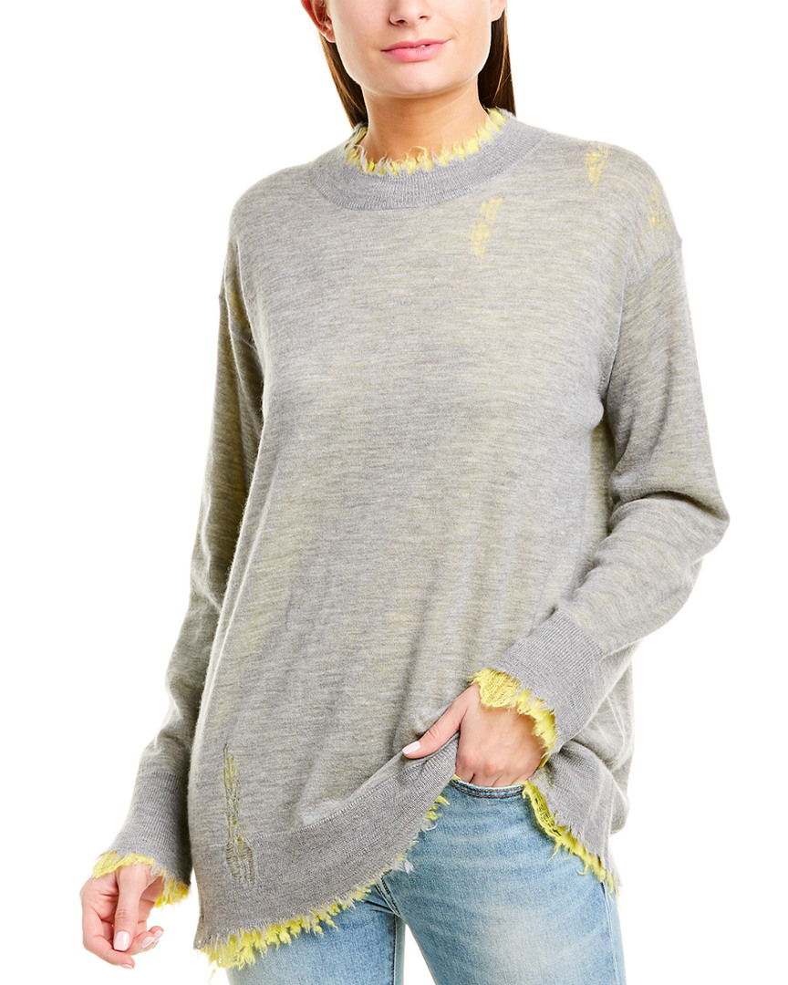 R13-Reversible-Cashmere-Sweater-Women-039-s-Grey-Xs