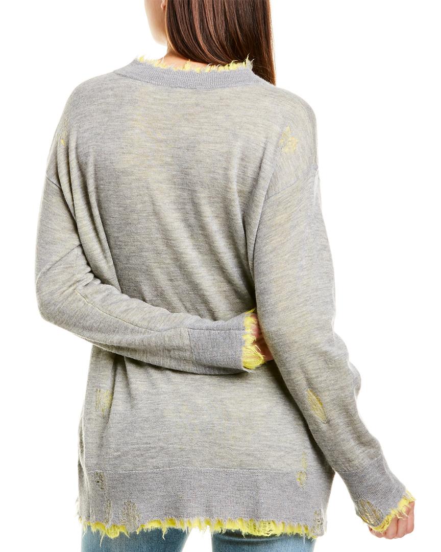 R13-Reversible-Cashmere-Sweater-Women-039-s-Grey-Xs miniature 2