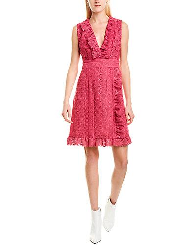 Rue La La — Anna Sui Geo Pop Silk Shift Dress