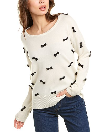 Rue La La — Qi Cashmere Bow Cashmere Sweater