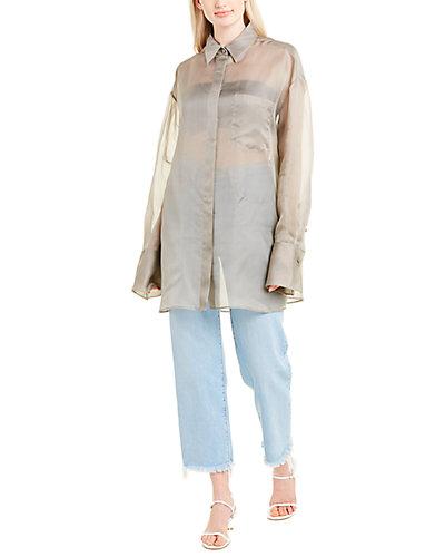 Rue La La — The Row Claire Silk Shirt