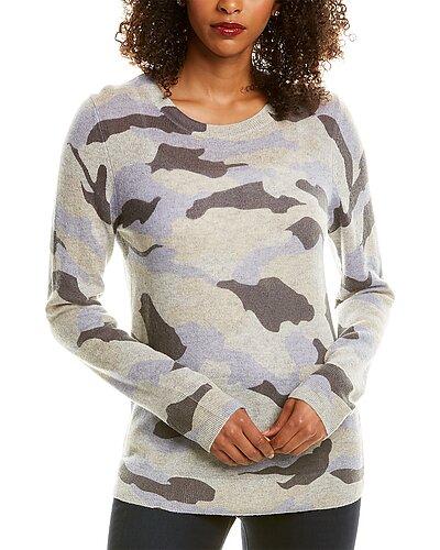 Rue La La — Hannah Rose Camo Cashmere Sweater