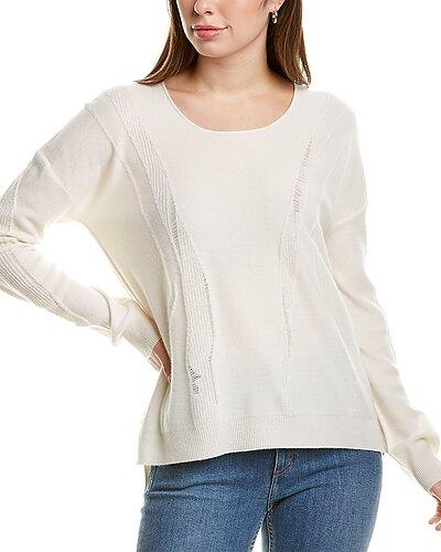Rue La La — InCashmere Distressed Detail Cashmere Sweater