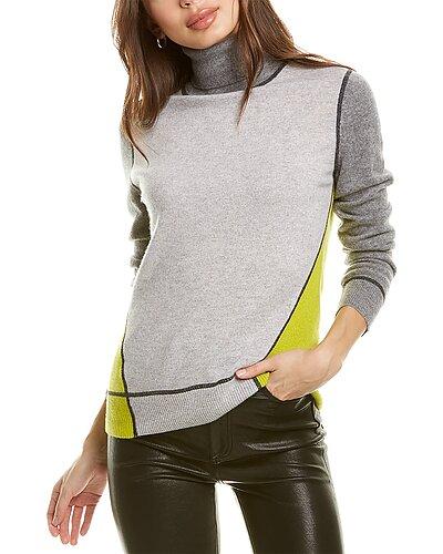 Rue La La — InCashmere Colorblocked Cashmere Sweater