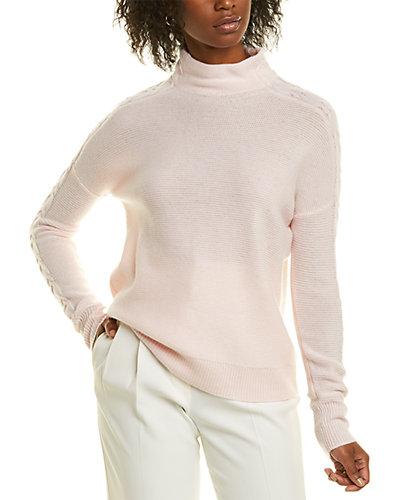 Rue La La — Forte Cashmere Stitch Detail Cashmere Sweater