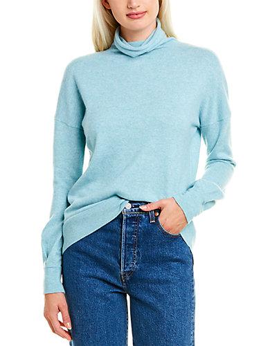 Rue La La — Forte Cashmere Gathered Sleeve Cashmere Sweater