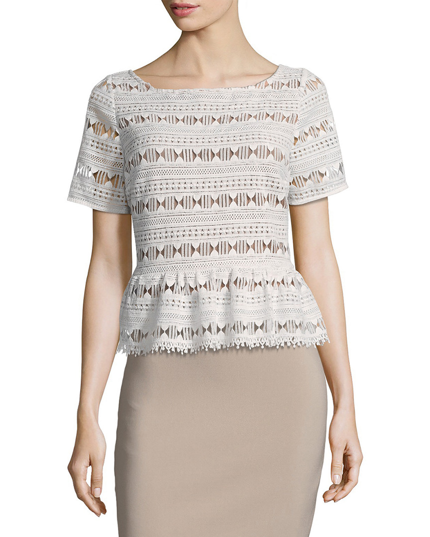 Tracy Reese LACE FLOUNCED T