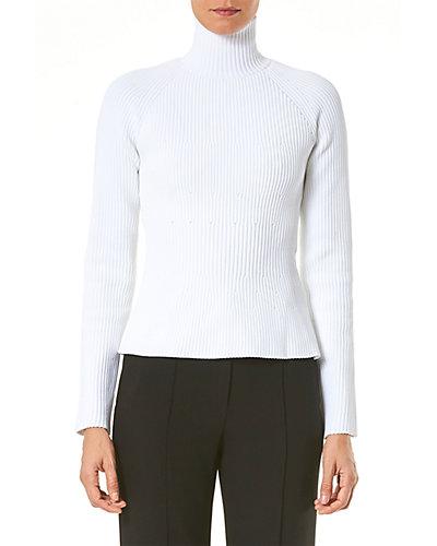 Rue La La — Carolina Herrera Raglan Sleeve Knit Turtleneck Top