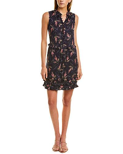 Rue La La — Rebecca Taylor Ivie Ruffle Silk-Blend Mini Dress