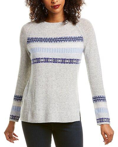 Rue La La — Hannah Rose Easy Fit Wool & Cashmere-Blend Sweater