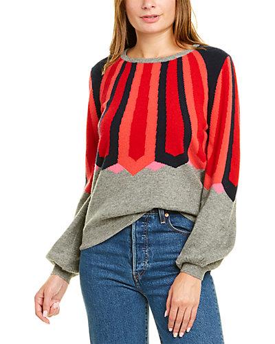 Rue La La — JUMPER 1234 Balloon-Sleeve Cashmere Sweater