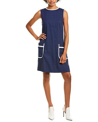Rue La La — Marella Edera Linen-Blend Shift Dress