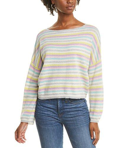Rue La La — Scott & Scott London Stripe Up Cashmere Sweater