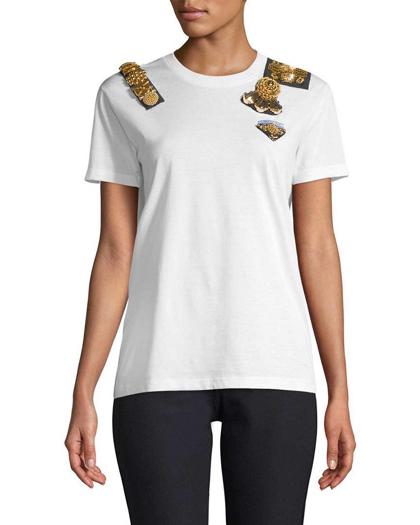 Prada Embellished T-Shirt 14117690320001