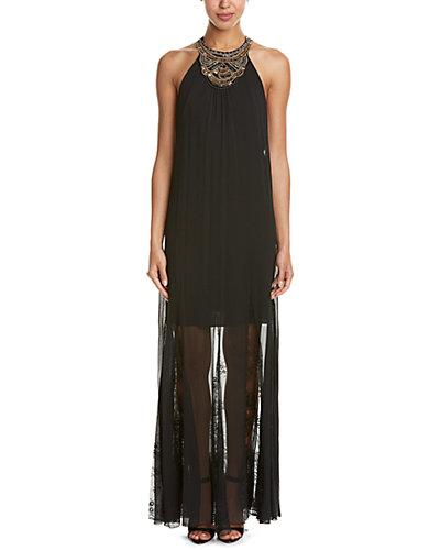 alice + olivia Lois Embellished Maxi Dress