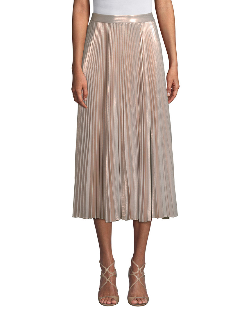 BOBBY PLEATED MIDI SKIRT