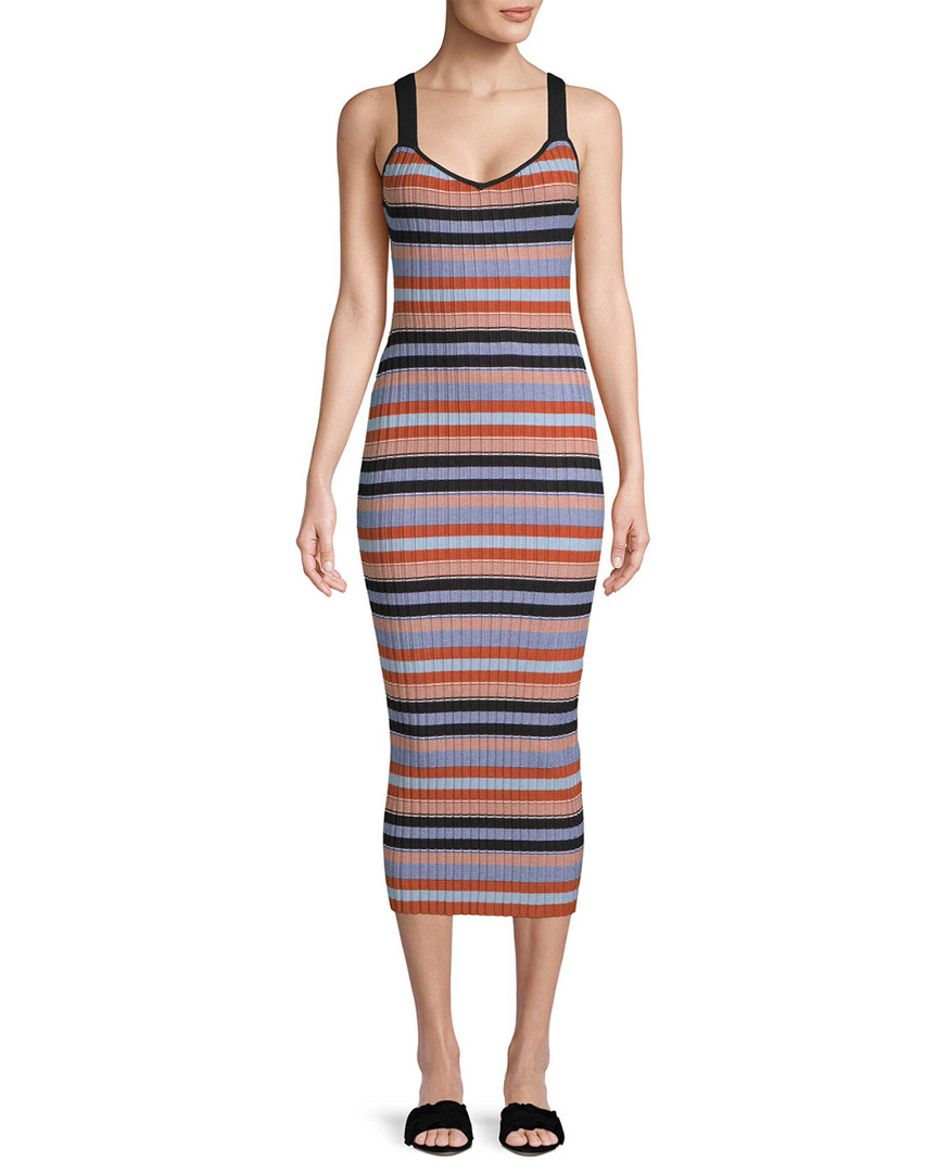 Torn By Ronny Kobo Yaela Striped Midi Dress 14117929180000
