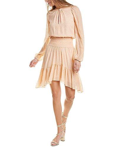 Rue La La — A.L.C. Sidney Silk-Blend Mini Dress