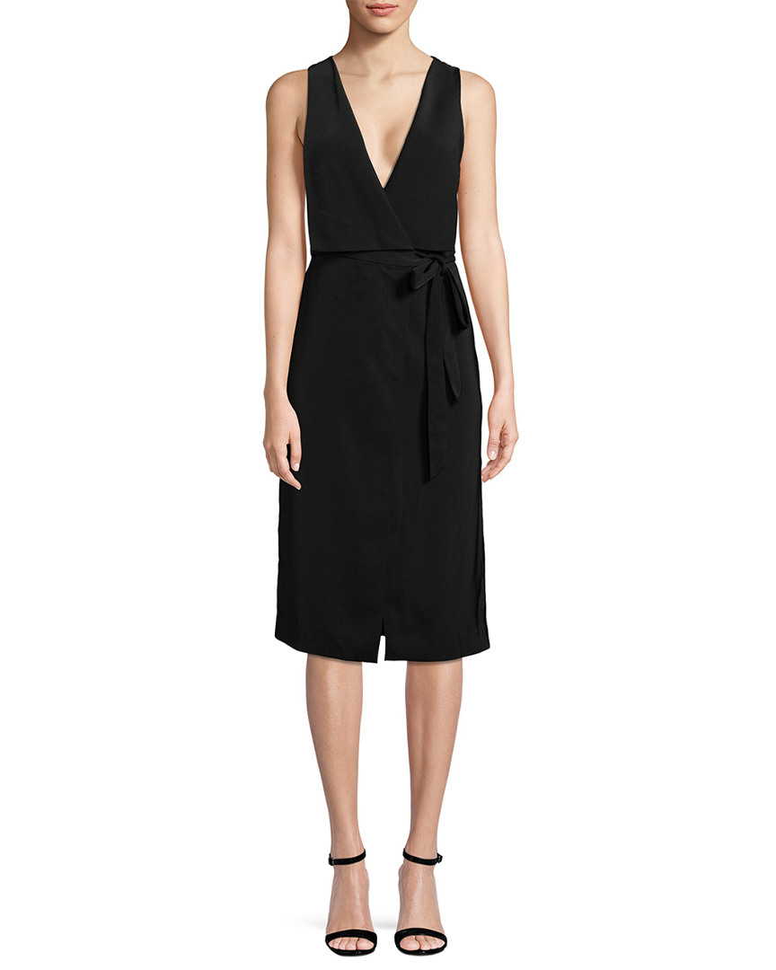 COLLECTIVE PLUNGING WRAP DRESS