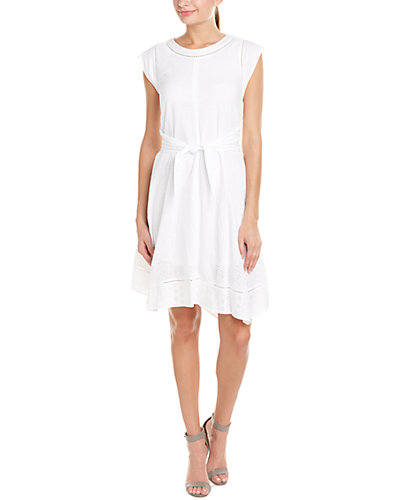 Rebecca Taylor Mix Eyelet A-Line Dress