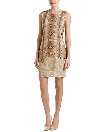 Magaschoni Silk & Cashmere Blend Burnout Knit Dress