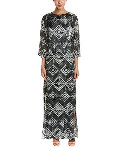 alice + olivia Christabel Silk Maxi Dress