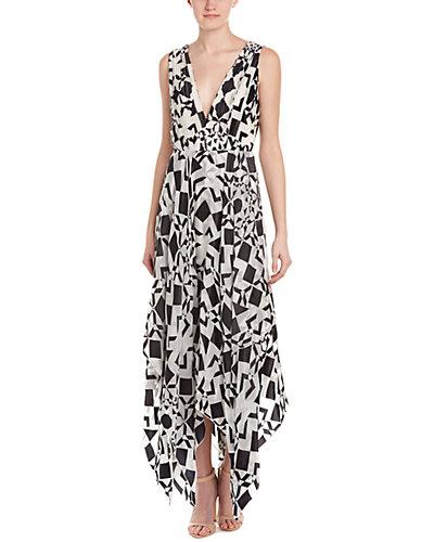 alice + olivia Esmay Silk-Blend Midi Dress
