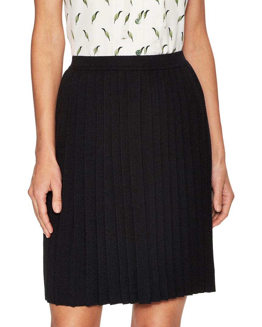 Carolina Herrera Wool Pleated Skirt 14118288680000