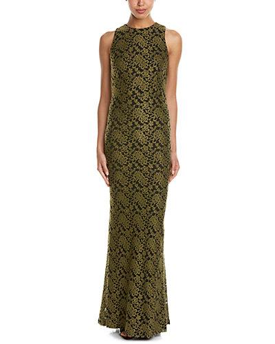 alice + olivia Roxie Wool-Blend Maxi Dress