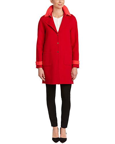 Elie Tahari Wool-Blend Coat