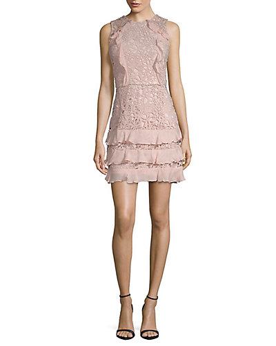 Rue La La — Parker Zahara Combo Lace Mini Dress