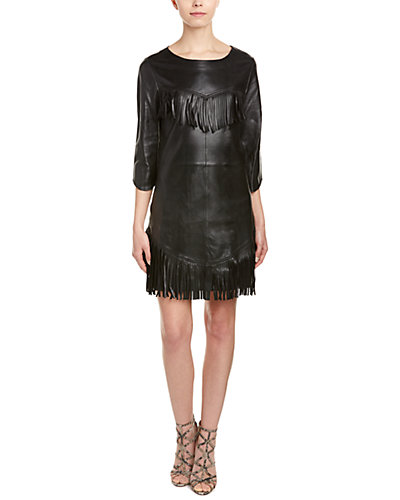 Zadig & Voltaire Rea Deluxe Leather Sheath Dress
