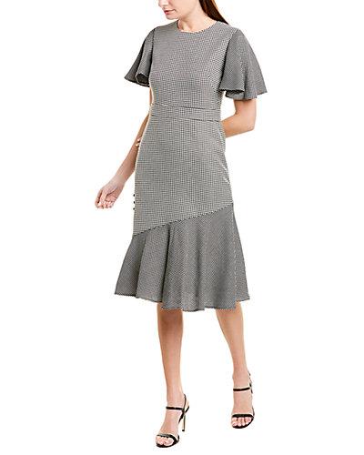 Rue La La — PRABAL GURUNG Victoria Wool & Silk-Blend Midi Dress