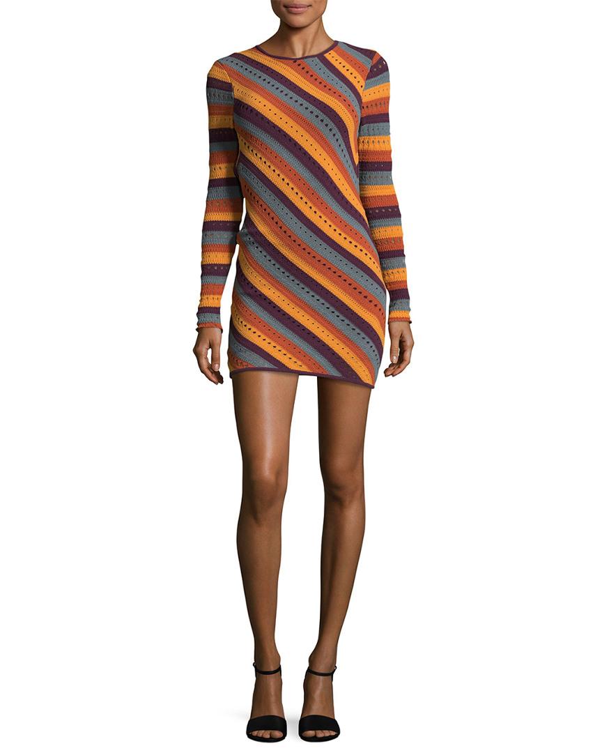 Ronny Kobo JULES STRIPED DRESS
