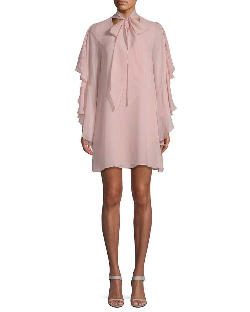 Bcbgmaxazria SILK CHIFFON SHIFT DRESS