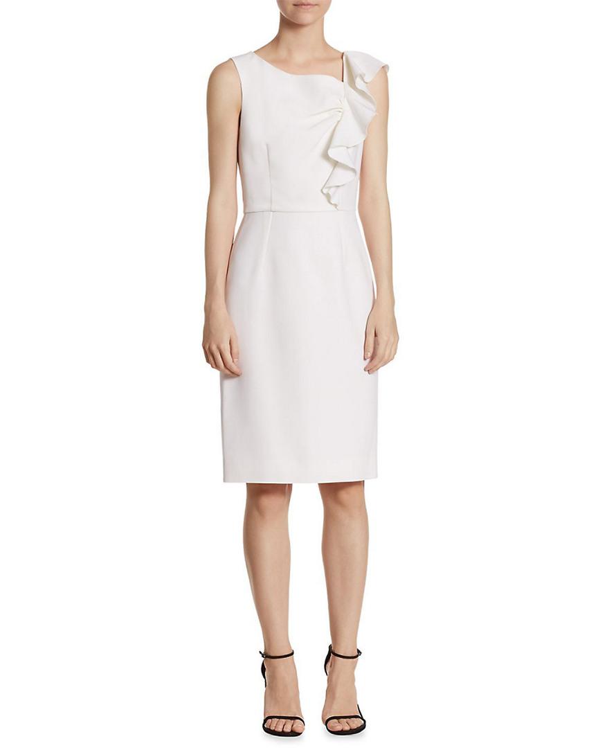 Carolina Herrera Ruffled Sheath Dress 14119114870000