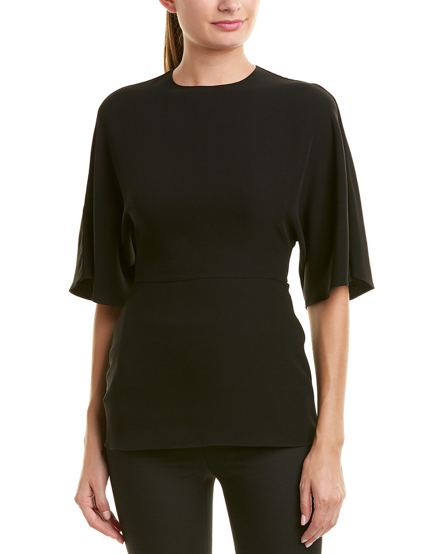 Valentino Silk Peplum Top 14119162140000