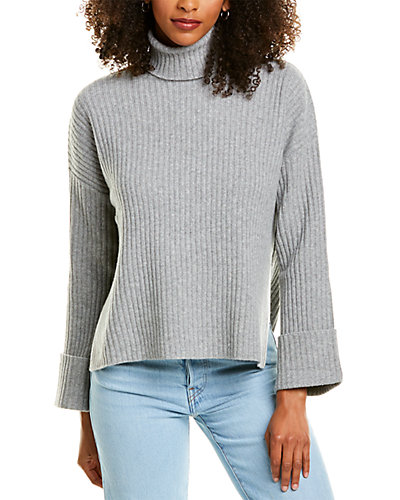 Rue La La — Revive Cashmere Oversized Wool & Cashmere-Blend Turtleneck Sweater